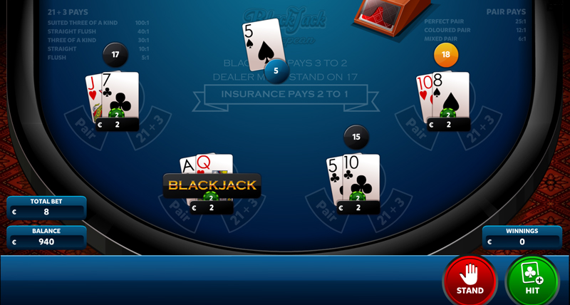 In the event of BlackJack, the winnings are 3 to 2
