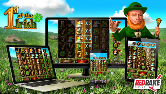 1st of the Irish, the new cluster video slot from Red Rake