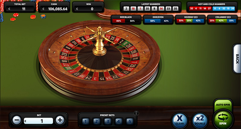 3D roulette with incredible graphics