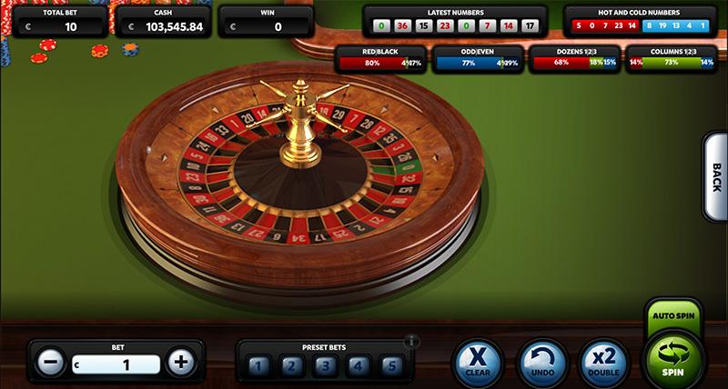 Super realistic 3D roulette